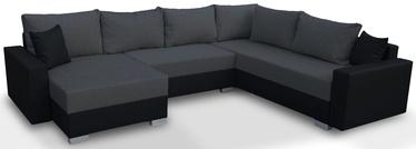Stūra dīvāns Platan Gustaw 04 Dark Grey, 315 x 135 x 87 cm