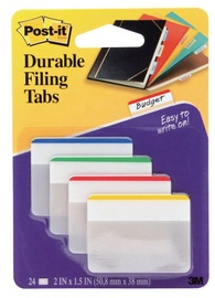 3M Post It Index Strong Filing Tab Assorted Colours 24pcs