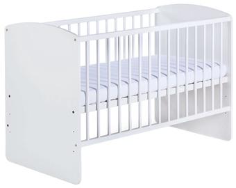Bērnu gulta Klups Karolina II White, 120x60 cm
