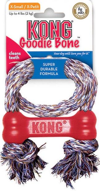 Игрушка для собаки Kong Goodie Bone Extra Small Red