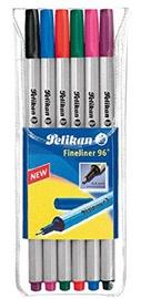 Ручка Pelikan Fineliner 96 940650, серебристый, 6 шт.