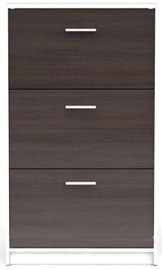 Шкаф для обуви Black Red White Nepo Plus White/Wenge, 700x175x1200 мм