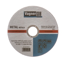 Vagner SDH Steel Cutting Disc 200.06 125x2x22.23mm