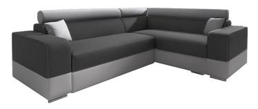 Stūra dīvāns Idzczak Meble Infinity Mini Dark Grey/Grey, labais, 256 x 186 x 93 cm