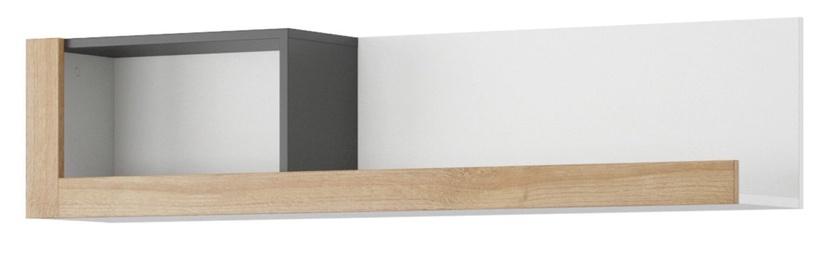 Szynaka Meble Riva 35 Wall Shelf White/Black/Oak