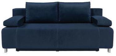 Dīvāngulta Black Red White Kinga III lux 3DL Dark Blue, 193 x 93 x 93 cm