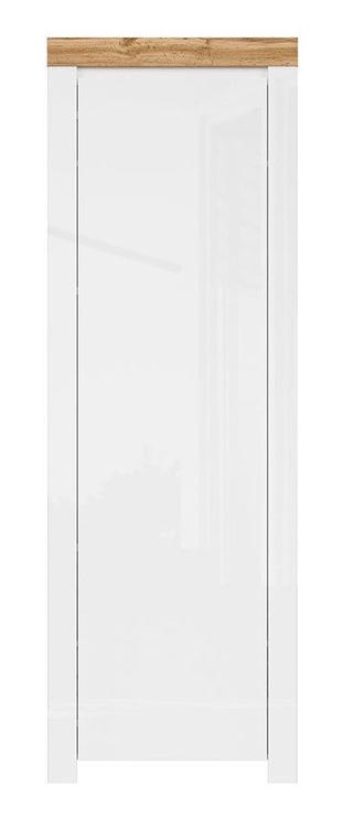 Skapis Black Red White Holten White/Wotan Oak, 68.5x37x203.5 cm