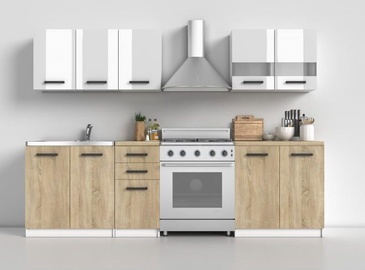 Top E Shop Kitchen Furniture Set 200 Sonoma Oak/White Gloss