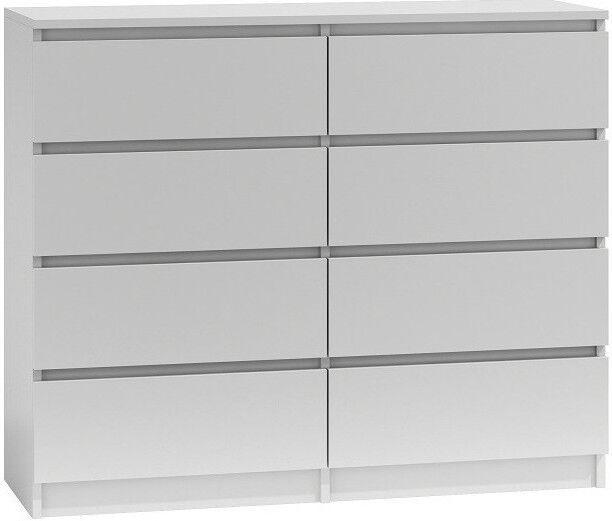 Комод Top E Shop Malwa M8, белый, 120x40x97 см