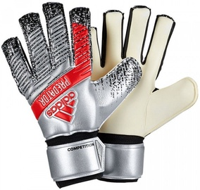 Adidas Predator Competition Gloves Silver/Red DY2603 Size 7