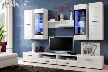 Dzīvojamās istabas mēbeļu komplekts Furnival Lauren, balta