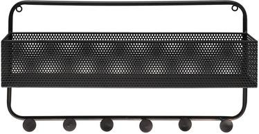 4Living Ziggy Wall Shelf 55x35x11cm Black