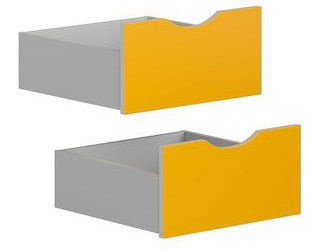 Black Red White Drawers for Stanford Cabinet Light Grey/Yellow