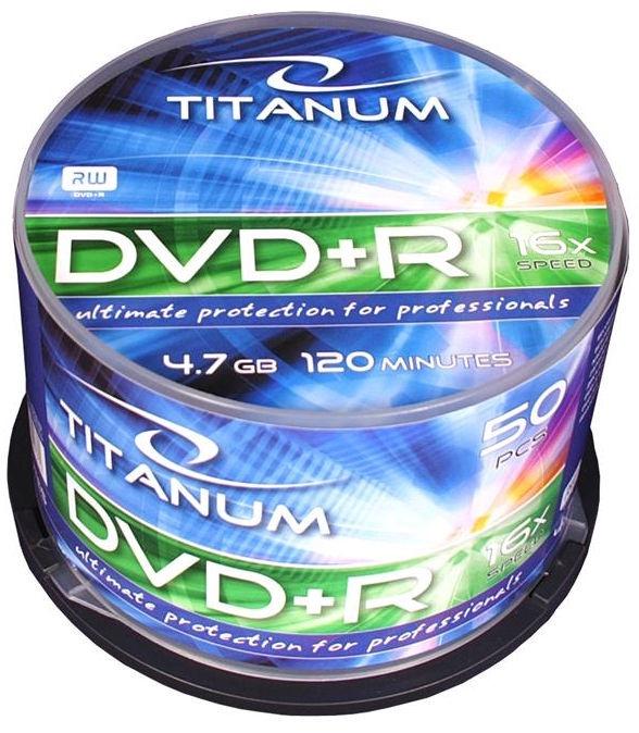 Esperanza 1286 Titanum DVD+R 16x 4.7GB Cake Box 50 DVD's