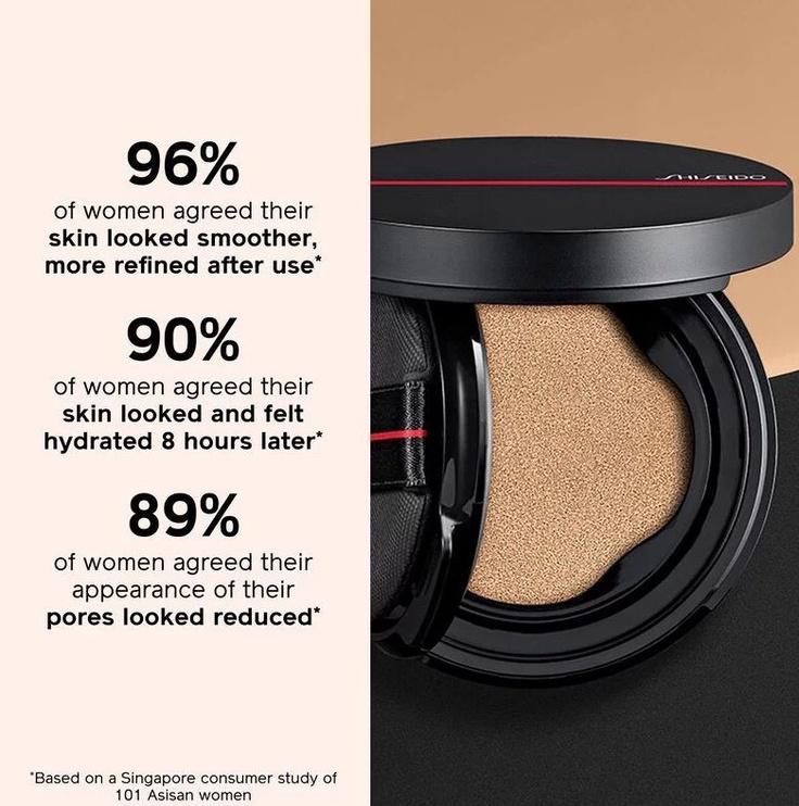 Tonizējošais krēms Shiseido Synchro Skin Cushion Compact Foundation Alder, 13 g