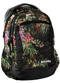Paso BeUniq Flowers School Backpack w/ Pencil Case & Wallet Dark Multicolor