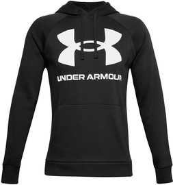 Under Armour Rival Fleece Big Logo Hoodie 1357093-001 Black S