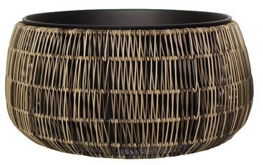 Home4you Flowerpot Wicker D48x24cm Brown