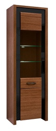 Шкаф-витрина Black Red White Arosa Oak Brown, 64.5x40x200.5 см