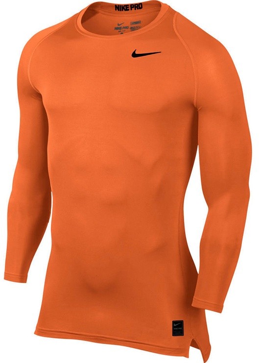 Nike Men's Pro Cool Compression LS Top 703088 815 Orange M