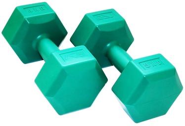 Hantele SportVida GYM & Fitness Comfort Dumbbell Set 2x4kg Green