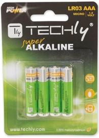 Techly Alkaline Batteries 4x AAA