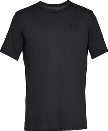 T-krekls Under Armour Mens Sportstyle Left Chest SS Shirt 1326799-001 Black M