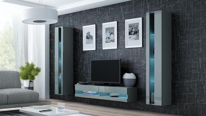 Cama Meble Vigo New Shelf Unit Grey/Grey Gloss