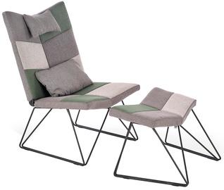 Halmar Remix Fotel Chair With Ottoman Grey