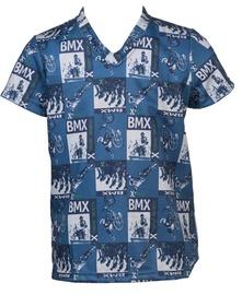 Bars Mens T-Shirt Blue 35 152cm