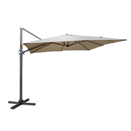 Home4you Roma Parasol 3x3m Beige/Silver