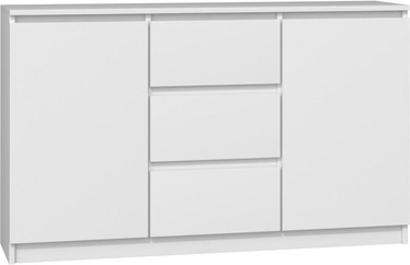 Top E Shop Chest of 2 Doors 3 Drawers White 120cm