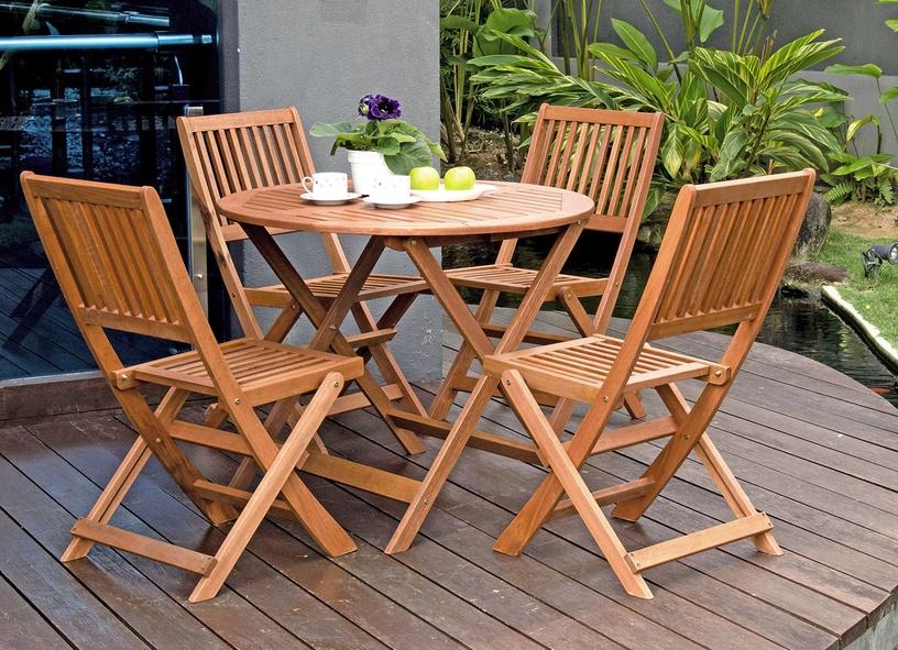 Home4you Woody Garden Chair Meranti