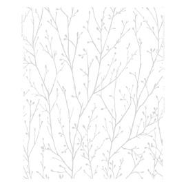 Graham & Brown Elegance Vinyl Wallpapers 10.05x0.53m White/Grey 102850