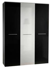 Skapis ASM Big White/Black Doors, 135x55x190 cm