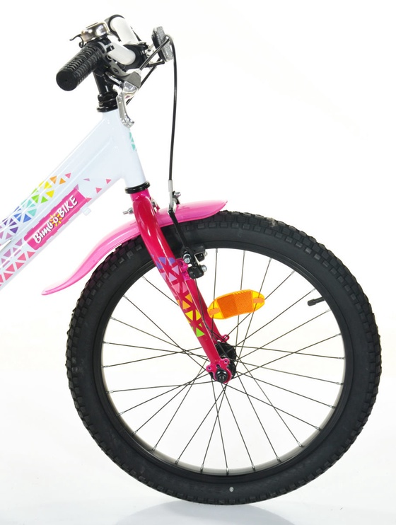 "Velosipēds Bimbo Bike 20"" White Pink"