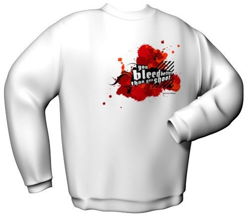 GamersWear You Bleed Better Sweater White M