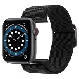 Siksna Spigen Lite Fit for Apple Watch 2/3/4/5/6/SE 42/44mm, melna