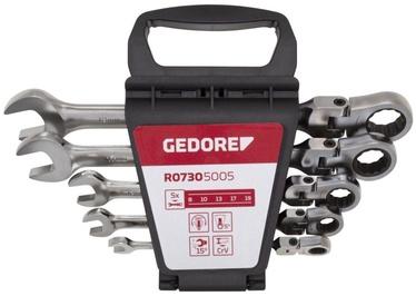 Gedore Flexible Head Combination Ratchet Spanner Set 8-19mm 5pcs
