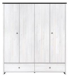 Skapis Black Red White Porto With Extra Shelves Larch Sibu/Pine Larico, 188.5x55.5x209 cm