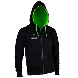 GamersWear Sprout Hoodie w/ Zip Black/Green XL