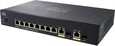 Tīkla centrmezgls Cisco SG350-10MP-K9-EU