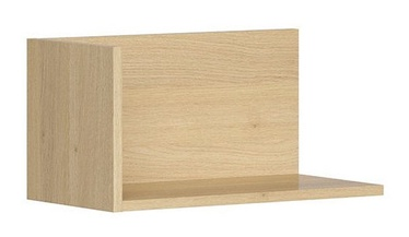 Black Red White Priceton Wall Shelf 50cm Oak
