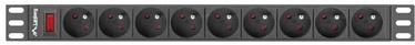 Lanberg Surge Protector 1U 16A 9 Sockets 3m Black