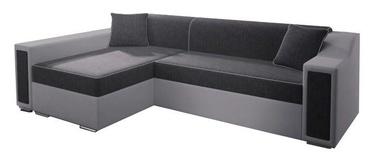 Stūra dīvāns Idzczak Meble Milton Mini Dark Grey/Grey, 282 x 160 x 77 cm