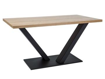 Pusdienu galds Signal Meble Vector Oak/Black, 1500x900x780 mm