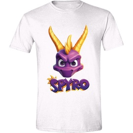 Licenced Spyro Face Logo T-Shirt White S