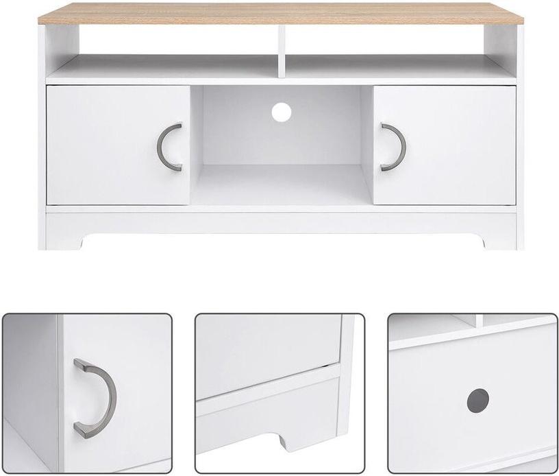 ТВ стол Songmics, белый, 1050x520x400 мм