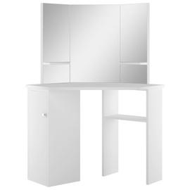 Столик-косметичка VLX Corner 288451, белый, 54 см x 111 см x 141.5 см, с зеркалом