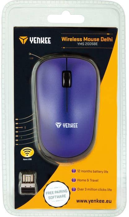 Компьютерная мышь Yenkee YMS 2005 Blue, беспроводная, оптическая